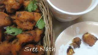 Rice Pakoda Recipe - Made with left over rice - Tea time Snacks