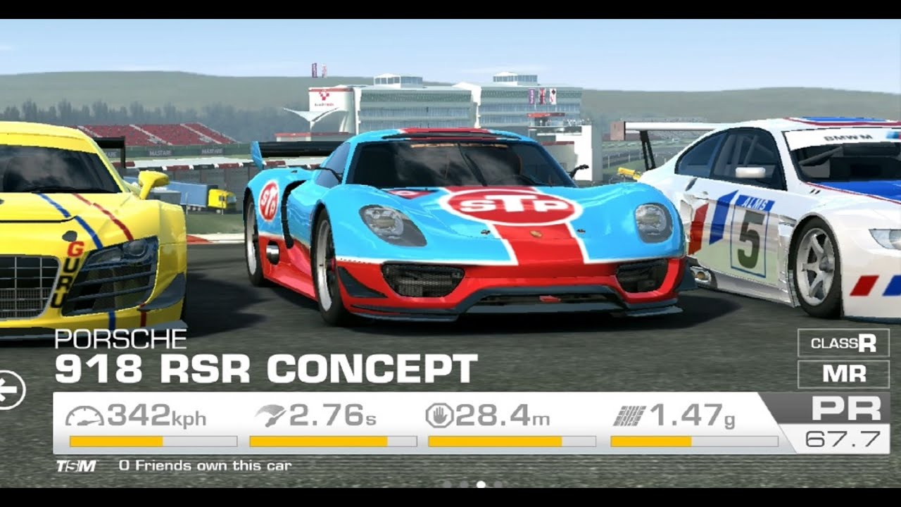 Real Racing 3 Tuning Porsche 918 Rsr Concept Stp Livery Custom Vinyls Ideas Youtube