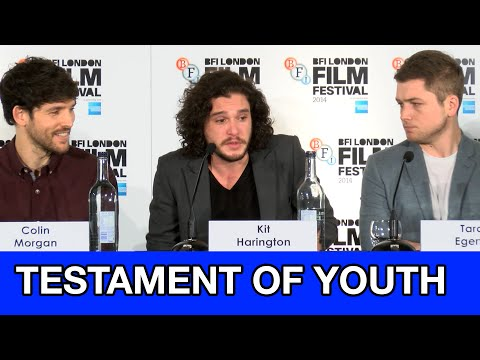 Kit Harington, Colin Morgan, Taron Egerton Interviews - Testament of Youth Full Press Conference