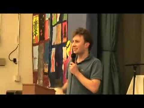 Alex Plank talks to parents of people with Asperger's