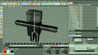 How to animate a model in Cinema 4D (Character rigging)