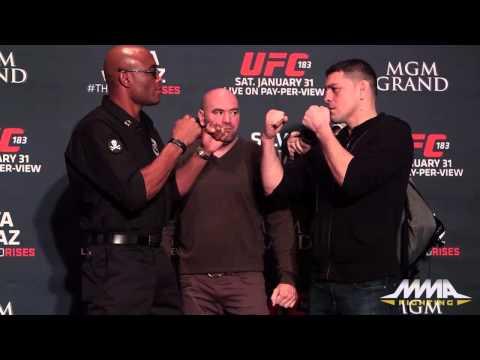 UFC 183: Anderson Silva vs. Nick Diaz Staredown