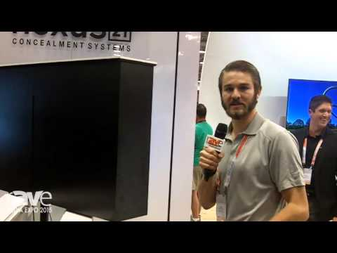 CEDIA 2015: Nexus21 Demos the L-45ens Lift and Swivel TV Mount With Box Enclosure