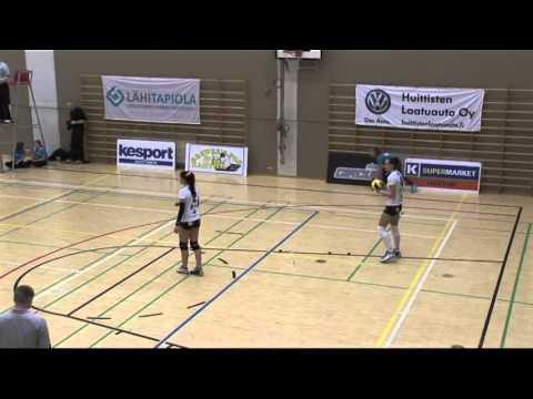 Naisten lentopallon finaalin toinen osa-ottelu 1-sarjaa 2014 osa 1