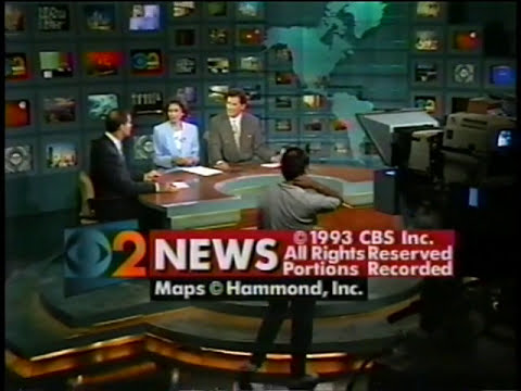 WCBS CBS New York City June 1993 Montage