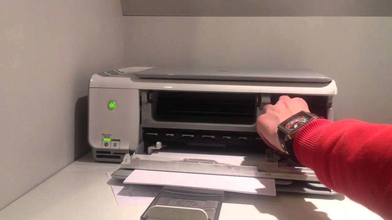 changer les cartouches d 39 encre imprimante hp youtube