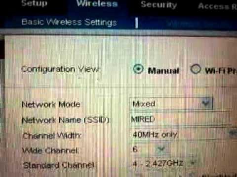 Configuración de un router Linksys modelo WRT120N-EW