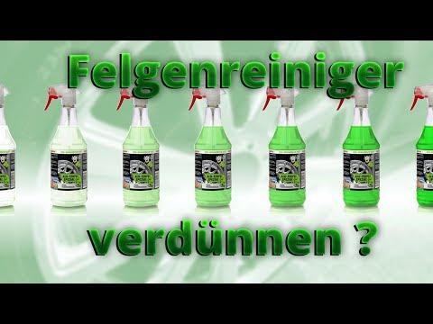 Felgenreiniger Test: Tuga grün und Dr. Wack P21s verdünnen | Kann man Felgenreiniger verdünnen?