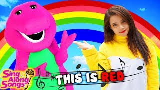 Barney and Friends Sing Along with Baby Color Song Full Episodes 3 Simple Songs for Kids