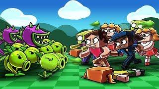 Minecraft | PLANTS VS ZOMBIES GIRL CHALLENGE! (Boy vs Girls PVZ Game)