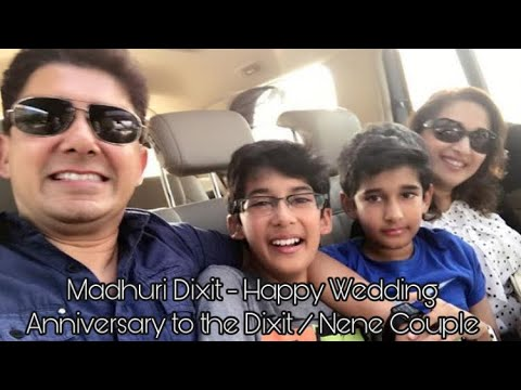 Madhuri Dixit - Happy Wedding Anniversary To The Dixit   Nene Couple video