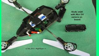 Camera on Blade mQX Quad-Copter with 3 Views.