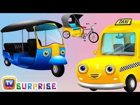Surprise Eggs Toys – Public Transport Vehicles for Kids Part 2 | Rickshaw, Tuk Tuk & more | ChuChuTV