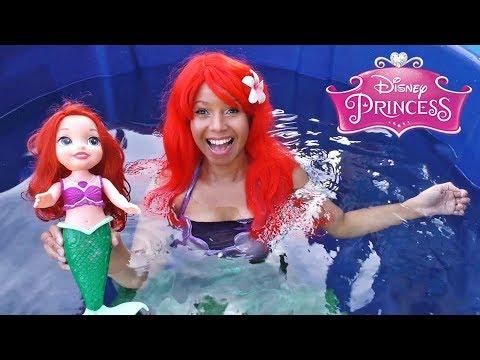 Disney Princess Ariel Toy Dunk Tank Challenge!    Disney Toy Review    Konas2002