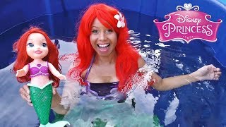 Disney Princess Ariel Toy Dunk Tank Challenge! || Disney Toy Review || Konas2002