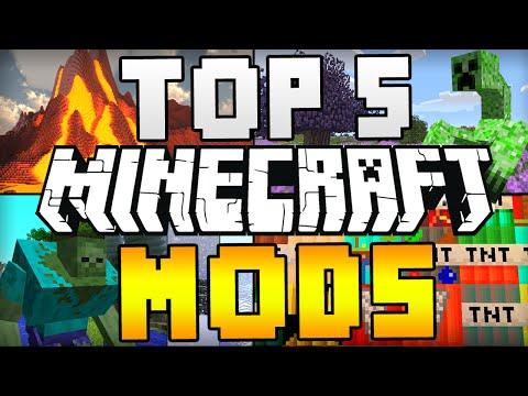 TOP 5 MINECRAFT MODS! (Minecraft 1.8) - 2015 [HD]