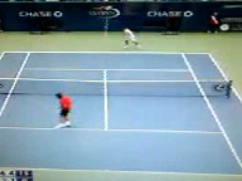 Round 4 US Open Roger Federer V.s Tommy Robredo Highlights