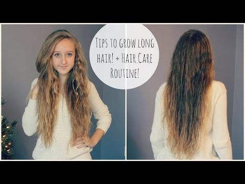 Tips For Growing Long Hair! + Hair Routine! video