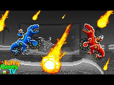 АТАКА ДИНОЗАВРОВ #2 Новое видео для детей игра как мультики машинки тачки гонки игра Drive AHEAD