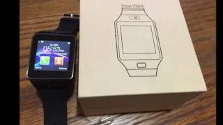 DZ09 SmartWatch Review. Works with Android and Iphone. Best value Smart Watch for your money.