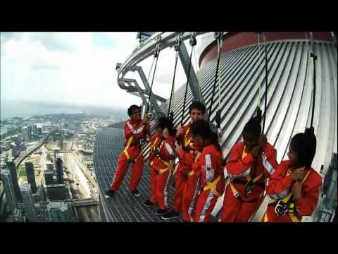 Cn Tower's Edgewalk ! FULL EXPERIENCE VIDEO .