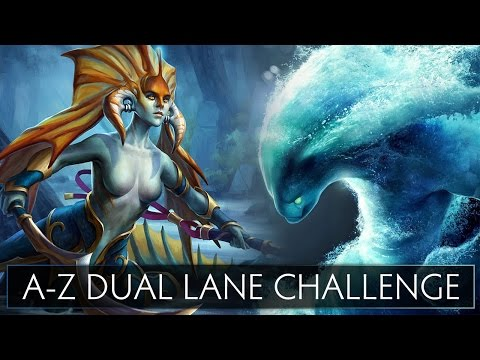 Dota 2 A-Z Dual Lane Challenge - Morphling and Naga Siren
