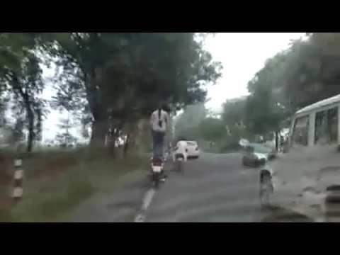 Punjabi Girl Stunt On Bullet