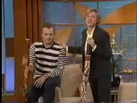 Heath Ledger on Ellen playing the Didge