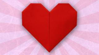 Origami Heart Folding Instructions  YouTube