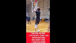 LaMelo Ball: Pregame Shooting Workout with the Illawara Hawks at 2019 NBL Blitz