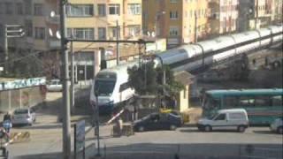 Eskisehir Gar Girişinde Yüksek Hızlı Tren (High Speed Train in Turkey)