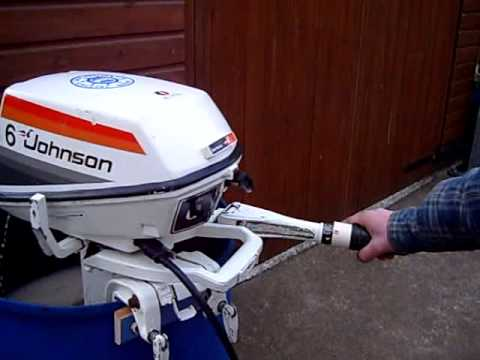 Johnson 6hp Outboard Motor Running In Tank Demo Youtube