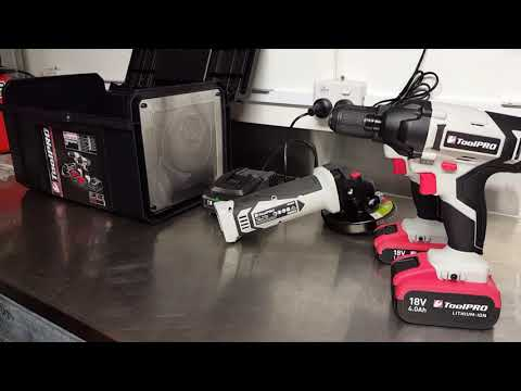 ToolPRO 18 Volt Cordless Drill & Grinder Review