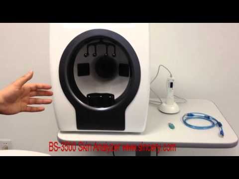 BS3500 magic mirror skin analyzer installation