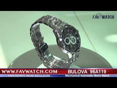 Bulova 96A119 Mens Automatic Mechanical Watch.