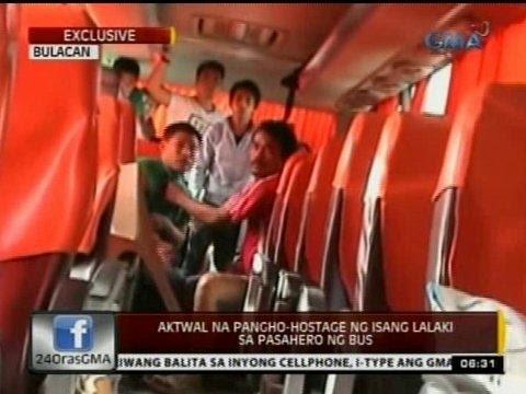 24 Oras: Aktwal na pangho-hostage ng isang lalaki sa pasahero ng bus