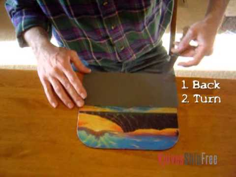 Sharpening Convex Edges (4) - Sharpening with a Mousepad and Sandpaper