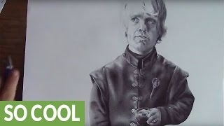 Hyperrealism time lapse drawing of Game of Thrones character