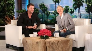 Ellen's Hot Guys: Chris Hemsworth Speaks Some Strange Languages