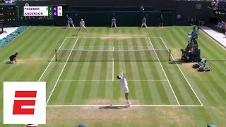 Wimbledon 2018 Highlights: Federer stunned by Anderson in 5 sets | ESPN