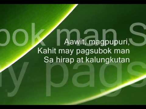 I Will Sing (don Moen) Tagalog Version video