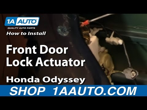 How To Install Replace Front Door Lock Actuator Honda Odyssey 99-04 1AAuto.com