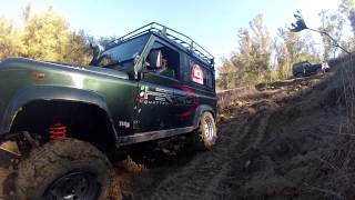 Land Rover Defender 4x4   Off Road GoPro Hero3