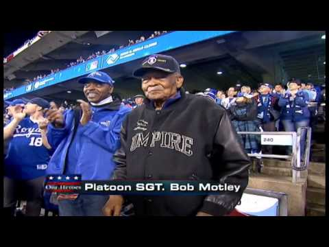 10/28/14: The Kansas City Royals salute Platoon Sergeant Bob Motley and his service to the United States.
