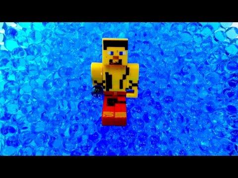 Видео про Minecraft. Бассейн для Стива. Обзоры игрушек. Мультик Майнкрафт