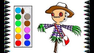 Color for kids - How to draw children's Halloween effigy -be yeu
