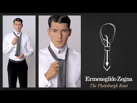 How to Tie a Plattsburgh Knot - Ties Around the World - The Knots  - Ermenegildo Zegna