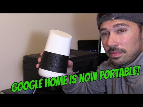HOW TO SETUP GOOGLE HOME PORTABLE WITH BATTERY BASE & PHONE HOTSPOT (NO WIFI ROUTER)