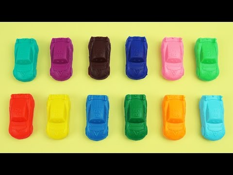 Play and Learn Colours with Playdough Modelling Clay and Diseny Cars, Popsicles Mold Fun & Creative