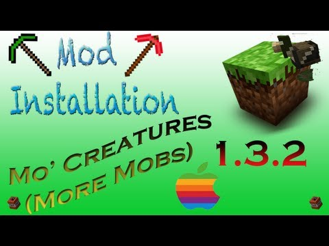 How To Install:  Mo' Creatures Mod Minecraft 1.3.2 Mac  (Voice Commentary HD 1080p)